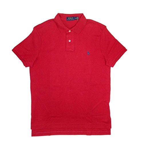Polo Ralph Lauren Men Medium Fit Interlock Polo Shirt, RL 2000 Red, Large