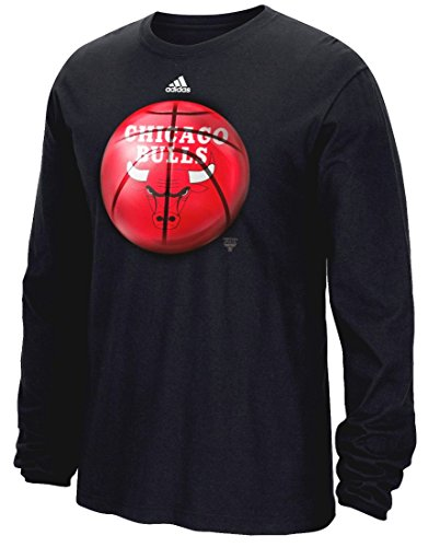 adidas Chicago Bulls NBA Logo Ball Premium Print L/S Men's T-Shirt