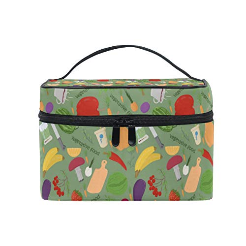 Price comparison product image Multifunction Travel Makeup Bag, Fashion Waterproof Portable Cosmetic Bag, Hot Home Large Capacity Makeup Pouch Wax Vegetables Picture