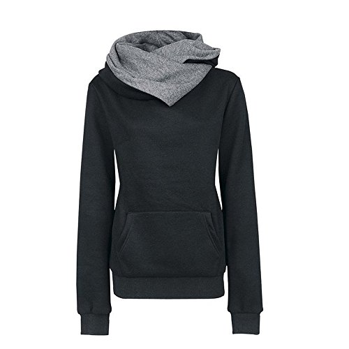UOFOCO Hoodie Sweatshirt for Women Long Sleeve Sweater Hooded Cotton Coat ()
