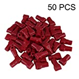 Genuine Store 50pcs Plastic Retail Shop Security Display Hook Anti-Theft, 6mm Anti Sweep Stop Lock for Pegboard or Slat -Wall Unlock Key not Included -Pack of 50 (Red)
