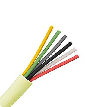 Amazon.com: 300 Ft 6 Conductor Cable 24 AWG Solid Copper Wire Round ...