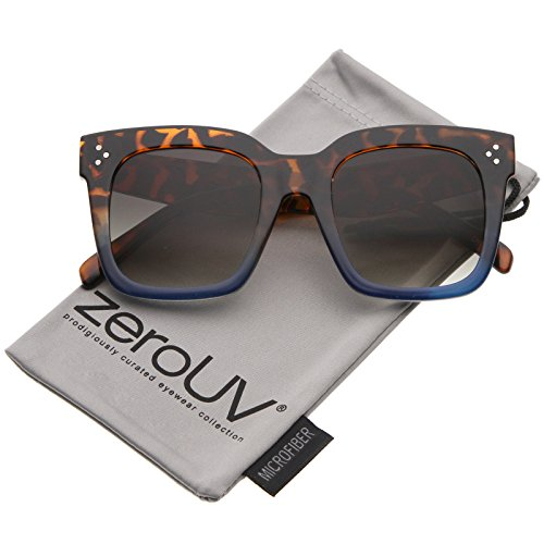 zeroUV Modern Two Toned Square Sunglasses product image