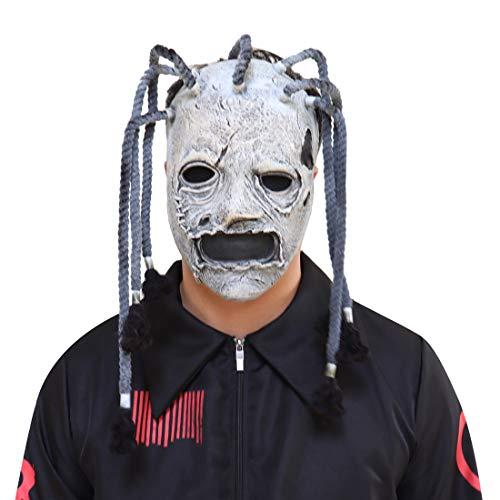 Bulex Slipknot Mask Corey Taylor Mask Dreadlocks Fancy Dress HHalloween Mask Prop