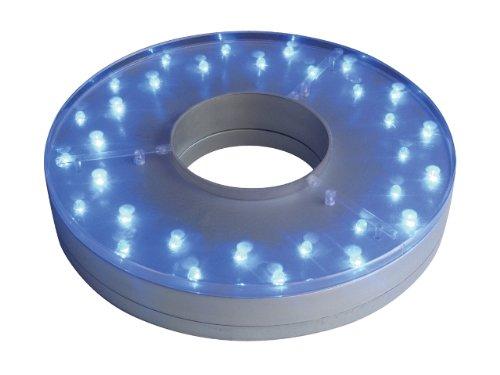 E-Maxi MultiColor Centerpiece Light Base 8-Inch 32 LED - Remote Control ()