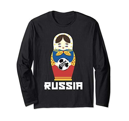 Russia National Flag Dressed Matryoshka Soccer Fan Shirt
