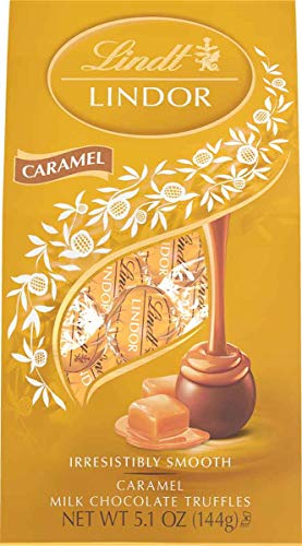 Lindt Lindor Caramel Milk Chocolate Truffles, 5.1oz (Pack of 6)