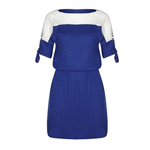 Azul mujeres 2018 xl Oscuro De Lmmvp Vestidos Mujer Casual Verano Manga Azul Cielo Mini Mariposa Sexy Backless Vestido RntZ1qBx