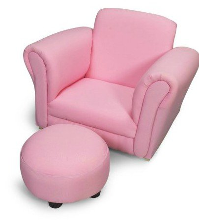 Kid Rocking Chair   With Ottoman, Pink