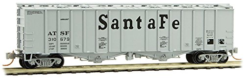50 Covered Airslide Hopper - Micro-Trains MTL N-Scale 50ft Airslide Covered Hopper Santa Fe/ATSF #310679