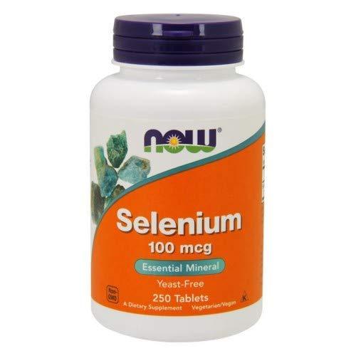 Now Foods, Selenium, (2 Pack) Yeast Free, 100 mcg, 250 Tablets