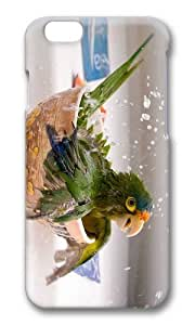 MOKSHOP Adorable Bathing Parrot Hard Case Protective Shell Cell Phone Cover For Apple Iphone 6 Plus (5.5 Inch) - PC 3D