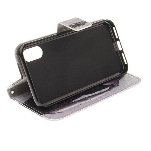 Coque iPhone X Belle fille Portefeuille Fermoir Magnétique Supporter Flip Téléphone Protection Housse Case Étui Pour Apple iPhone X / iPhone 10 (2017) 5.8 Pouce + Deux cadeau