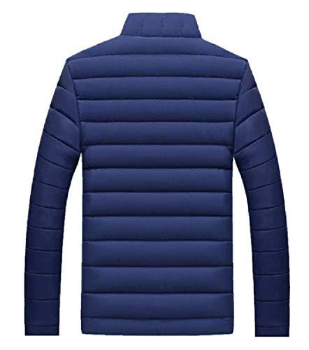 Packable Winter Jacket Collar Down Men Coats Lightweight EKU Zipper Blue Stand YqCg7w