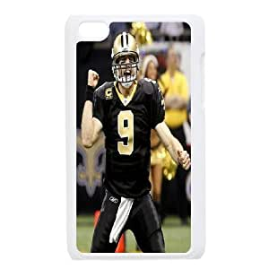 Yearinspace Drew Brees Ipod Touch 4 Case Drew Brees, New Orleans Saints for Teen Girls, Ipod Touch 4g Case Hard for Teen Girls [White]