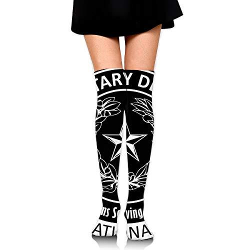 Texas Air National Guard Logo Womens Over Knee Thigh High Socks Stockings Knee High Tube Sock