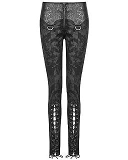Punk Rave Corrosion femmes legging pantalon noir gothique Dieselpunk faux  cuir c1a6c49e92ff