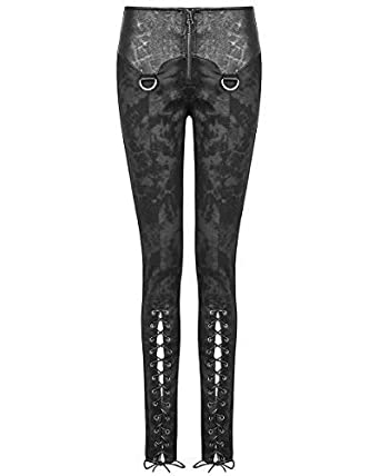 77efb7c75d75 Punk Rave Korrosion Damen Leggings Hose schwarz Gothik Dieselpunk  Kunstleder - Schwarz, S - UK