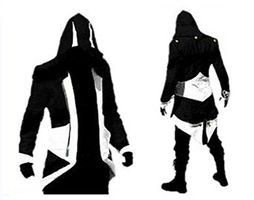 Xxx Large Costumes (Cosplay Costume Hoodie/Jacket/Coat-9 Options for the fans,Black with White,Men XXX-Large)