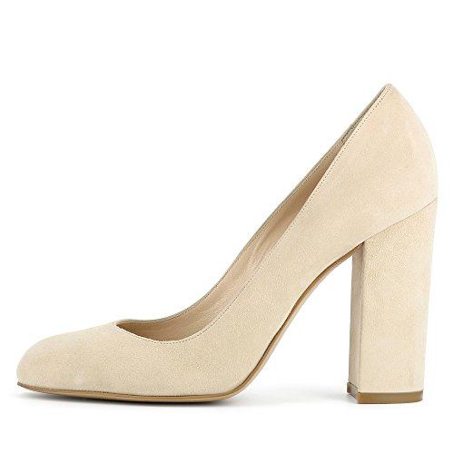 Evita Shoes Ilenea - Zapatos de vestir de Piel para mujer beige claro