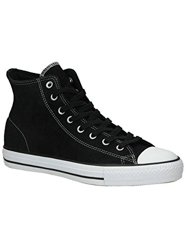 (Converse Unisex Chuck Taylor All Star Pro Hi Black/White Skate Shoe 9 Men US/11 Women US)