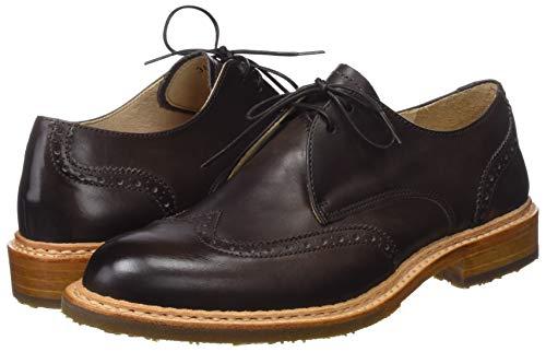 De Cordones chestnut Zapatos Para Chestnut Derby Marrón Skin Mujer Restored Neosens x4tqpUwxS