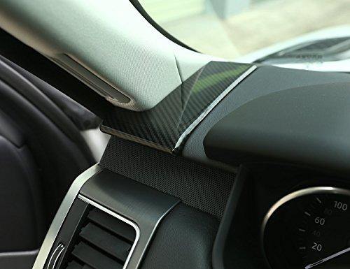 For Landrover Range Rover Sport RR Sport 2014-2017 Carbon Fiber Style ABS Plastic Dashboard Side Vent Decoration Cover Sticker (Abs Plastic Dash Cover)