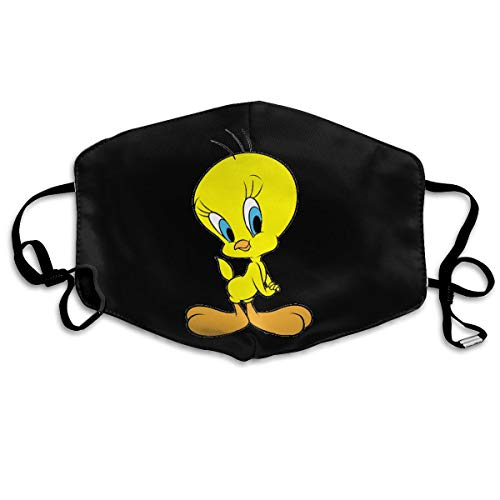 Tweety Face (Anti-dust Face Mask for Women and Men Tweety Bird Mouth Mask Reusable White)