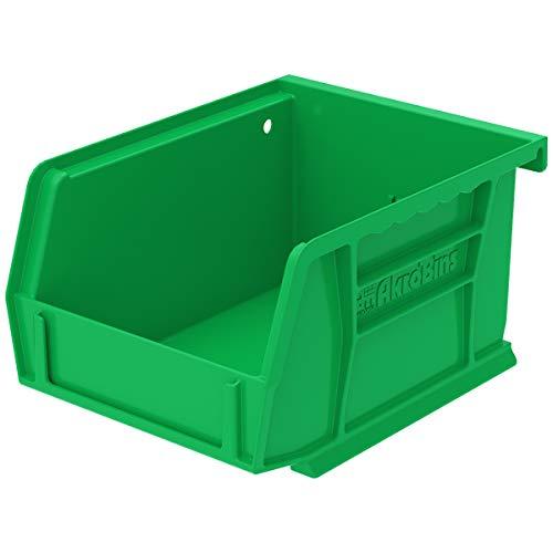 5 Inch Green - Akro-Mils 30210 Plastic Storage Stacking Hanging Akro Bin, 5-Inch by 4-Inch by 3-Inch, Green, Case of 24