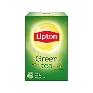 Lipton Pure & Light Loose Green Tea Leaves 250 g Pack, All Natural Flavour, Zero Calories – Improves Metabolism…