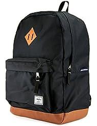 Benteng Premium Leather Bottom 15 inch Laptop Backpack for School Travel Daypack
