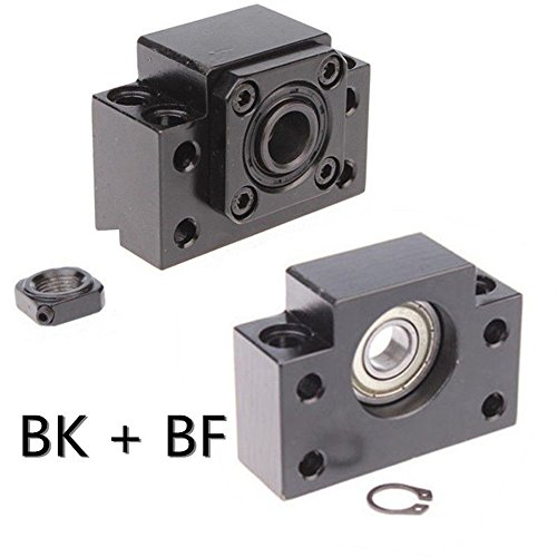 Fixed Side BK15 and Floated Side BF15 Ballscrew End Supports CNC 1Set