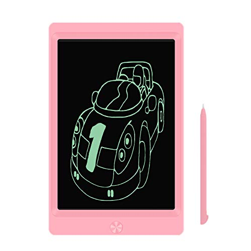 LCD Writing Tablet, 8.5-inch Writing Board Doodle Board, Electronic Doodle Pads Drawing Board with Lock Function Gift for Kids and Adults at Home,School and Office (Pink)
