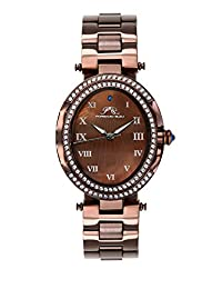 Porsamo Bleu South Sea Oval Crystal Stainless Steel Brown Women's Watch 106DSSO