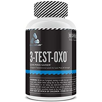 Complete Nutrition Legal Limit Labs 3-Test-OXO, Herbal Testosterone Supplement, Muscle Recovery, Strength Training, Muscle Growth, with Tribulus Terrestris, ...