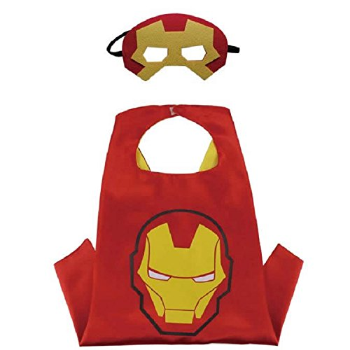 Superhero CAPE & MASK SET Kids Childrens Halloween