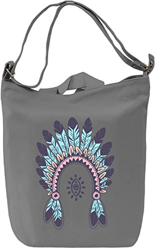 Native american Borsa Giornaliera Canvas Canvas Day Bag| 100% Premium Cotton Canvas| DTG Printing|