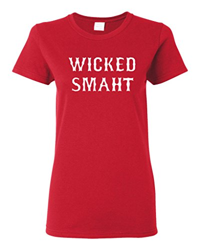 Ladies Wicked Smaht Funny T-Shirt Tee (XX-Large, ()