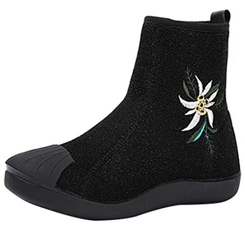 Martin Flachen Casual Elastischen Stiefeletten Schuhe Boden Warme Stiefel Frauen Wilden qwAtHH