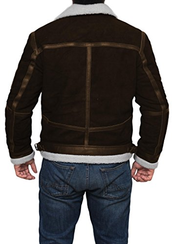 Mens Tom Cruise Jack Reacher Jacket - Leather Motorcycle Jacket (Brown - Power 50 Cent Jacket, XL) by Decrum (Image #4)