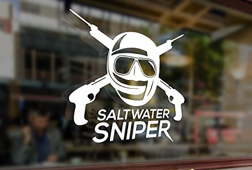 (25cm Spearfishing Fish Fishing Hunter Underwater Saltwater sniper Vinyl Stickers Funny Decals Bumper Car Auto Computer Laptop Wall Window Glass Skateboard Snowboard)