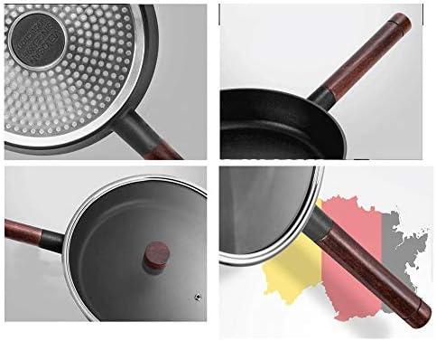 YAG POÊLON Poêle à Fond Plat antiadhésif Induction des ménages Pancake Fried Egg Steak Cuisinière au gaz Passe Adapté for Omelette Barbecue Cookinggranite Gris 8.5
