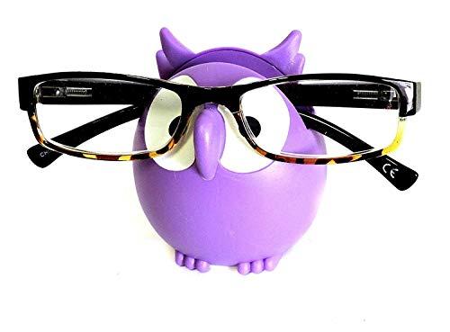 Purple Owl Glasses Sunglasses Eyeglass Holder Stand Display Rack Smartphone ()