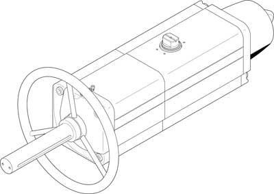 Festo 8005071 Model DAPS-0960-090-RS3-F1216 Semi-Rotary