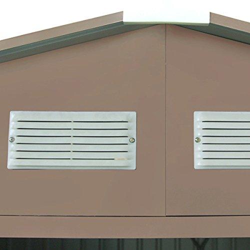 9' X 6' Outdoor Garden Storage Shed Tool House Sliding Door Steel Khaki New by tamsun (Image #4)