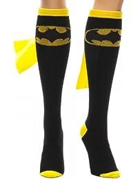 Batman Superhero Black Cape Sock, Womens shoe size 5-10