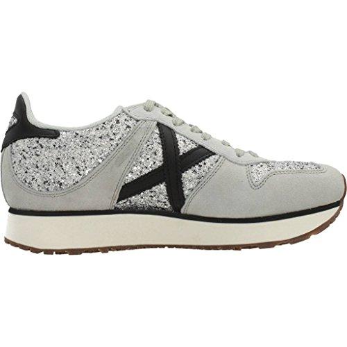 Sneakers Munich Grigio Grigio Argento Donna rdqwvxAWrp