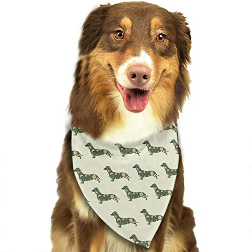 (OURFASHION Dachshund Decorative Pattern Bandana Triangle Bibs Scarfs Accessories for Pet Cats and)