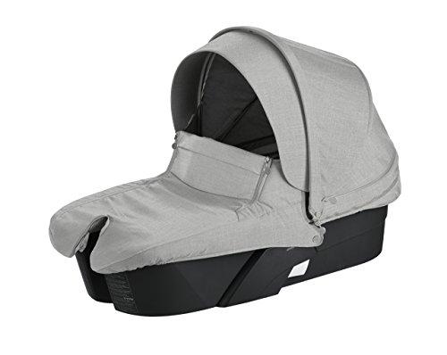 Stokke Xplory Black Carry Cot, Grey Melange