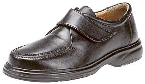 Ultra comodidad Roamers, Velcro poner zapato, tres colores Negro - negro